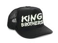 KING BROTHERS 暗闇で光るロゴCAP フリーサイズ ブラック ×蓄光インク