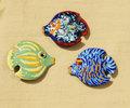 熱帯魚ブローチ キラキラブルー