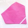 ゴム付き三角巾 ドットピンク