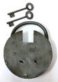 中世 鉄製パッドロック 南京錠 ラージサイズ