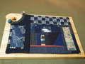 絣のコースターボード 350SP16