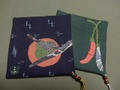柿と唐辛子のコースター2枚組A 344AG16
