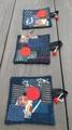赤丸と布玉のコースター3枚セット(B) 644FB21