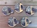 型染めと更紗の古裂丸いコースター 5枚組 621AG20