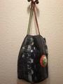 絣の巾着バッグ 91MR11