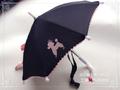 【S】ミニ傘(ブラック×プードル)