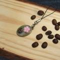 桜と珈琲豆のストラップ