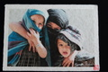和紙プリントA4サイズ。アフガニスタンの三姉妹