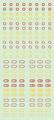 【18年9月予定】くらくらシール DE2-38 六角マーク 赤黄