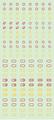 【18年9月予定】くらくらシール DE2-36 丸型マーク 赤黄