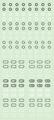 【18年9月予定】くらくらシール DE2-37 六角マーク 黒白