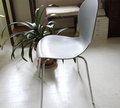 樹脂製グレ−の椅子