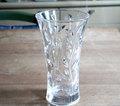 イタリア製クリスタルカットガラスの花瓶