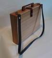 木製カバン(ショルダーベルト付)