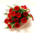 真っ赤なガーベラの花束