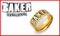 【BAKER】 BRAND LOGO RING 指輪