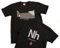 元素周期表Tシャツ(黒・Nh)