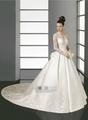 キャサリン妃英国皇室風ロイヤルレース長袖クラシカルウエディングドレス38520