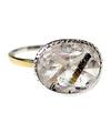 Quartz in tourmaline Salty Ring / 01180