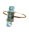 Aquamarine Rough Ring / 0195