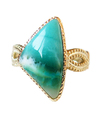 Beach side Blue Opal Ring / 01137
