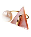 Pink shell Sweet Ring / 01177