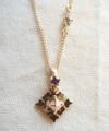 Family Birthday Stone Necklace K18 YG / 0220