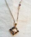 Family Birthday Stone Necklace K18 WG / 0221
