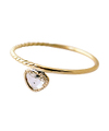 Free shape brown diamond Ring / 01204