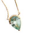 Emerald Drop Long Necklace / 02180