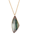 Quartz in Green Tormaline Necklace / 0284