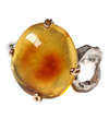 Amber Nutty Ring / 01182