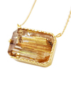Rutilated Quartz Square Necklace / 02151