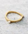 Trigonal Pearl Ring / 0158