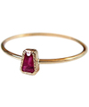 Trapezoid Ruby Ring / 01148