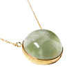 Prehnite Round Necklace / 0290