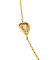 Free shape brown diamond Necklace / 02178