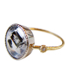 Quartz in Marcasite with Diamond Ring / 01142