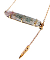Rhodolite Garnet in Garden quartz Long Necklace / 0296