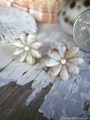 Zakuro Shell Flower pin pierce No,15