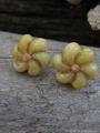 モンゴシェル Flower* ピンピアス No,7