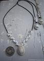 Smile TOP White mongo Shell Necklace No,1