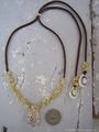 Smile TOP Yellow mongo Shell Necklace No,3