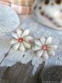 Zakuro Shell Flower pin pierce No,10
