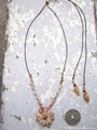 Tiny Cone shell Flower Top kahelelani & zakuro Necklace