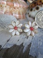 Zakuro Shell Flower pin pierce No,9
