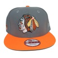 【Chicago Blackhawks】Charcoal Neon Orange