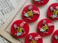 アンティーク イタリア製 ウサギの赤いボタン