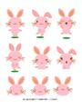 ちょこっとテンプレート vol.3ウサギさん