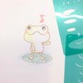 ちょこっとテンプレート vol.4 カエルさん